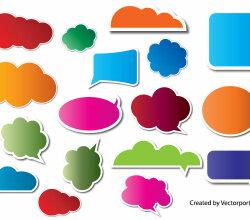 Speech Bubbles Free Vector Graphics