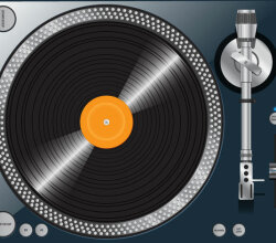 High Quality Turntable Vector