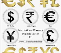 International Currency Symbols Vector