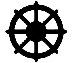 Dharmachakra Symbol Vector