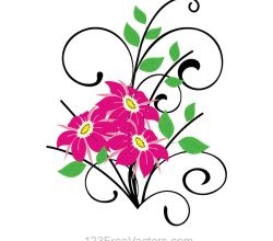 Flower Bouquet Vector Clip Art