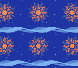 Sun and Motion Vector Pattern