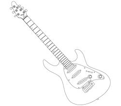 Cort Guitar Outline Vector Art