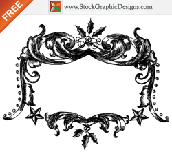 Free Christmas Vector Hand Drawn Frames