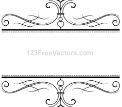 Calligraphy Ornamental Frame Vector Graphics