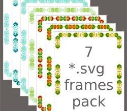 Vector Floral Swirl Frames SVG