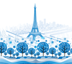 Vector Blue Paris Background Graphics
