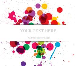 Vector Colorful Grunge Splashes Banner