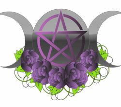 Pentacle Triple Moon Vector