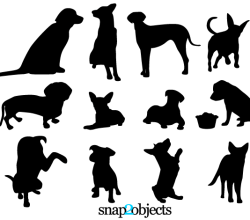 Dog Silhouettes Free Vector