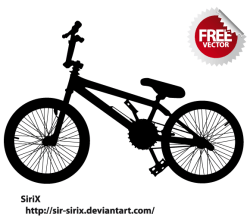 Bicycle Silhouette Vector Art Free