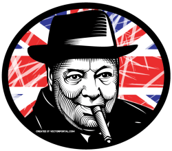 Winston Churchill Vector Image