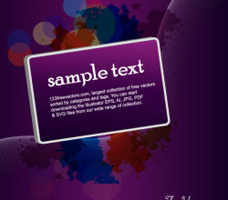 Purple Vector Background with Banner