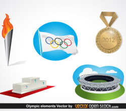 Olympic Elements Free Vector