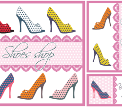 Shoes Card Design Vector