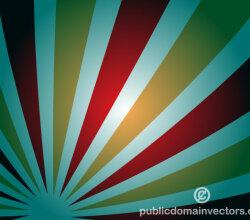 Abstract Background Design with Retro Sunbeams