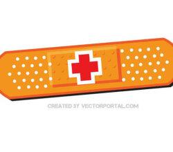 Adhesive Bandage Vector