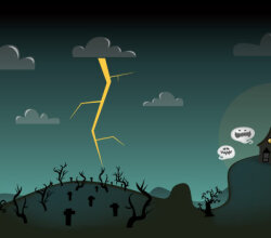 Halloween Scene Free Vector Art