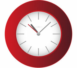 Vector Red Wall Clock