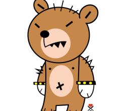 Cute Bear Cartoon Character