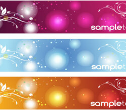 Free Vector Colorful Floral Banners