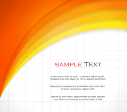 Abstract Orange Background Template Vector Design