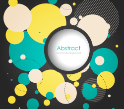 Colorful Circles Background Vector Clip Art