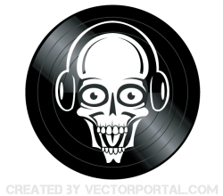 Dj Skull Vector