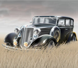 Old Fashioned Car Vector Free