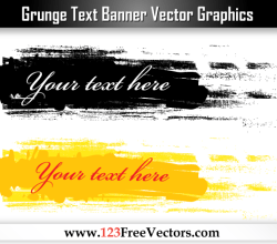 Grunge Text Banner Vector Graphics