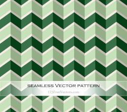Green Seamless Zigzag Pattern Vector
