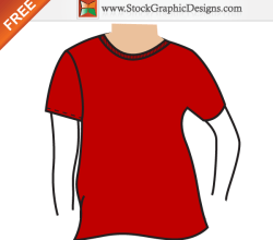 Men's Basic T-shirt Mockup Template Vector