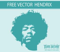 Jimi Hendrix Stencil 3 Free Vector Graphic Images Free Vectors