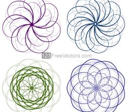 Vector Circle Decorative Design Elements Set-4
