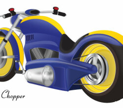 Free Chopper Motorcycle Vector