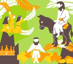 Free Palm Sunday Vector Illustrator Pack