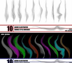 Smoke Illustrator Brushes