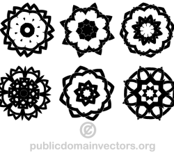 Decorative Knots Design Elements Vector Image
