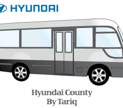 Hyundai County Bus Vector