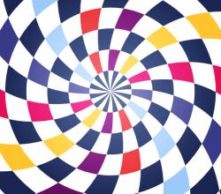 Colorful Spiral Op Art Vector