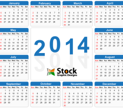 2014 Calendar Vector Free Download
