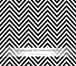 Black and White Zigzag Seamless Pattern Vector