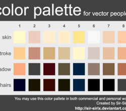 Skin Tone Color Palette Design Vector Eps