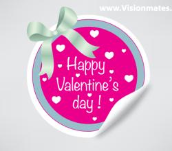 Valentine's Day Sticker Vector Free
