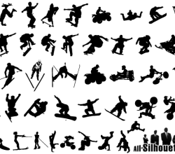 Free Extreme Sports Silhouettes Vector Art