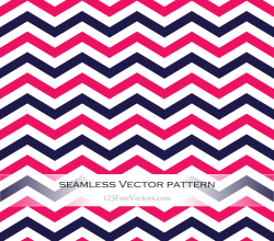 Navy Blue and Pink Chevron Seamless Pattern