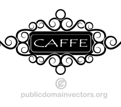 Cafe Sign Clipart Image
