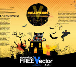 Free Halloween Poster Vector Illustration