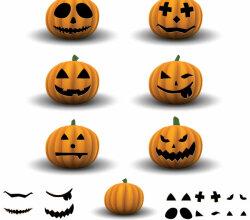 Jack O' Lantern Halloween Pumpkin Vector Image