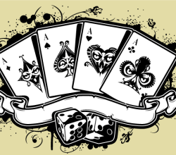 Vector Poker Aces Casino Illustration